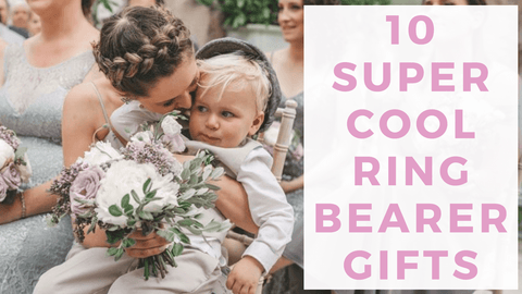 Header image with ring bearer sitting on bridesmaid's lap