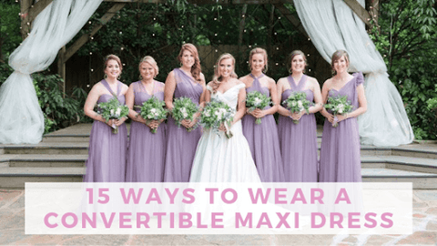 Ways to wear a convertible maxi dress