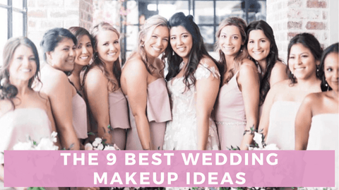 Bride and bridesmaids wearing different styles of makeup