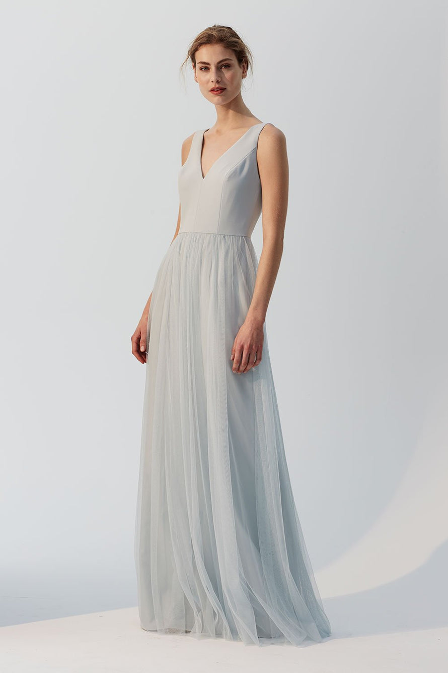 Kennedy Amsale Long Bridesmaid Dress
