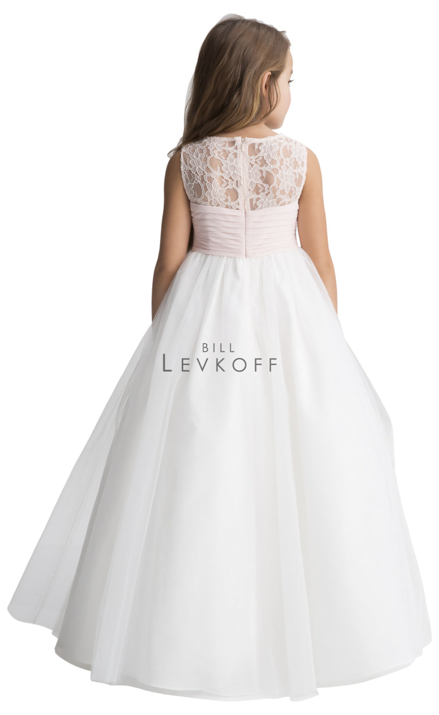 #LEVKOFF Flower Girl Dress Style 117301 back