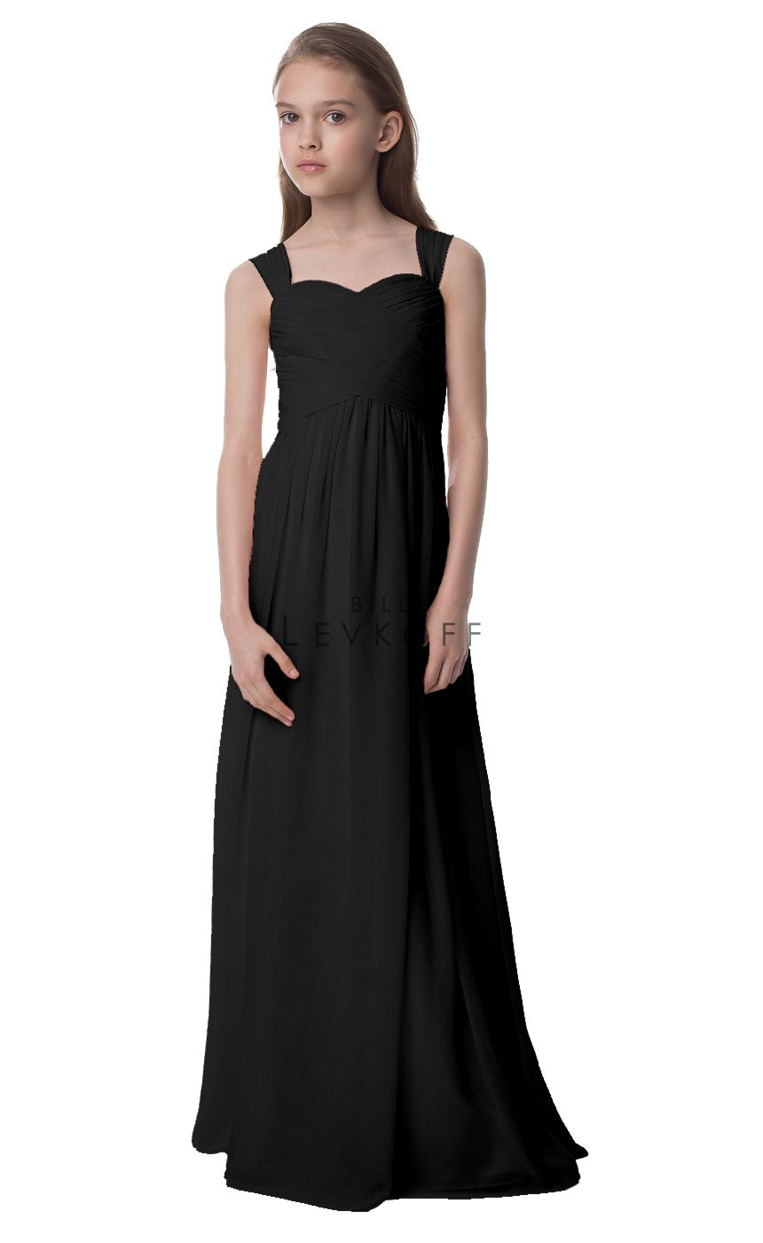 Bill Levkoff Junior Bridesmaid Dress Style 16502-Black