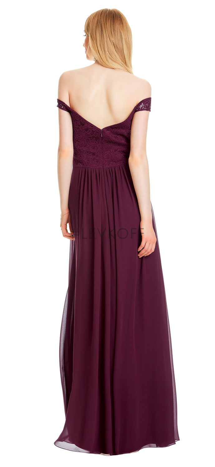 #LEVKOFF Bridesmaid Dress Style 7050 back