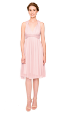 Petal-Twobirds Convertible Bridesmaid Dress Tulle Short Straight