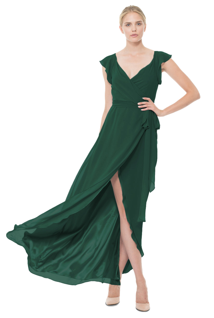 Joanna August Long Bridesmaid Dress Dorian