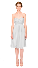 Cloud-Twobirds Convertible Bridesmaid Dress Tulle Short Straight