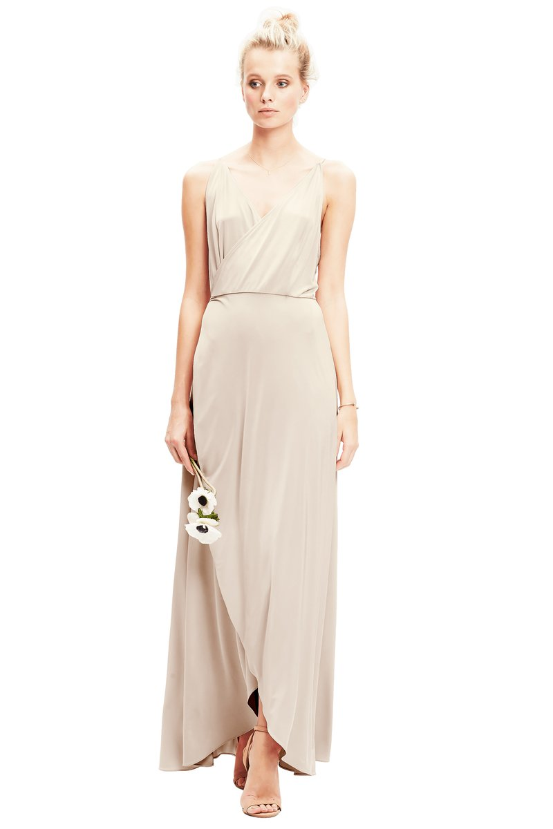 Oyster-Twobirds Bridesmaid Dress Lily
