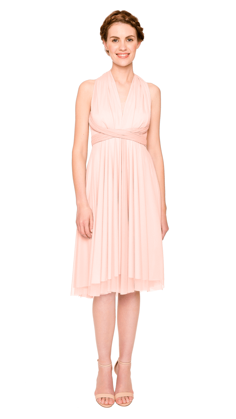 Clementine-Twobirds Convertible Bridesmaid Dress Tulle Short Straight
