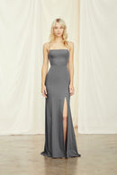 Amsale Long Bridesmaid Dress Jade Crepe
