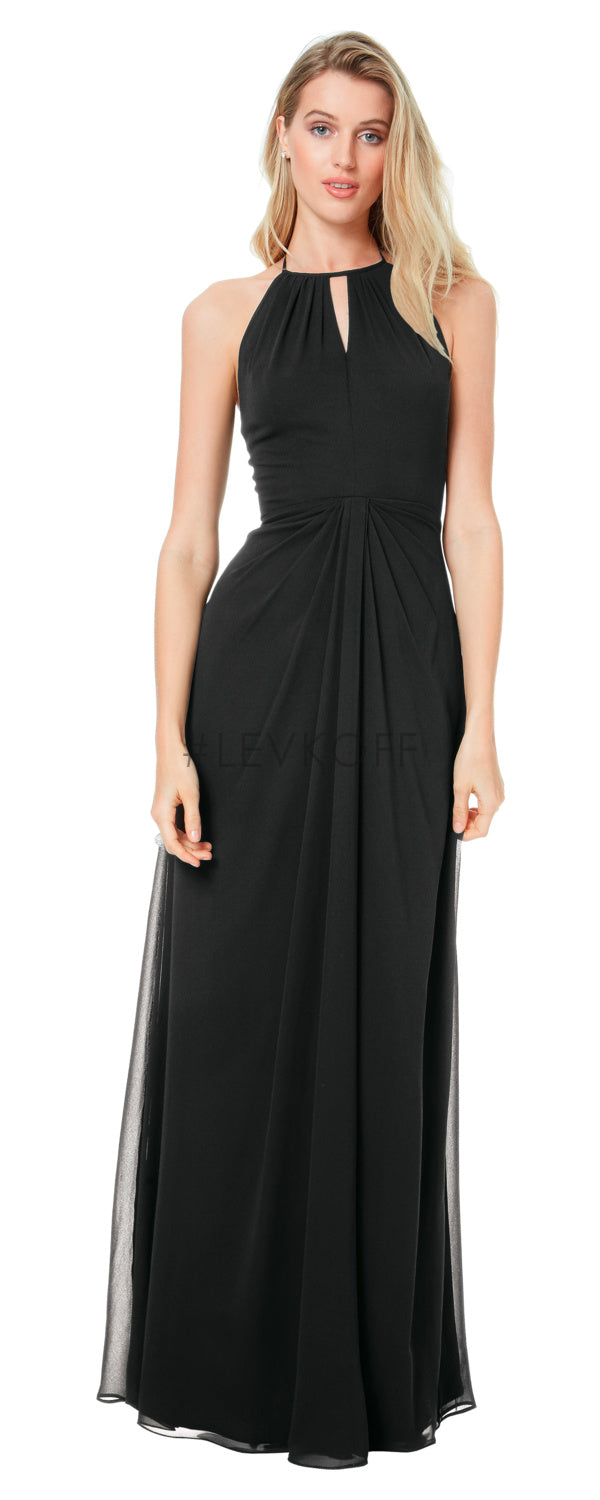 #LEVKOFF Bridesmaid Dress Style 7038 front - Black