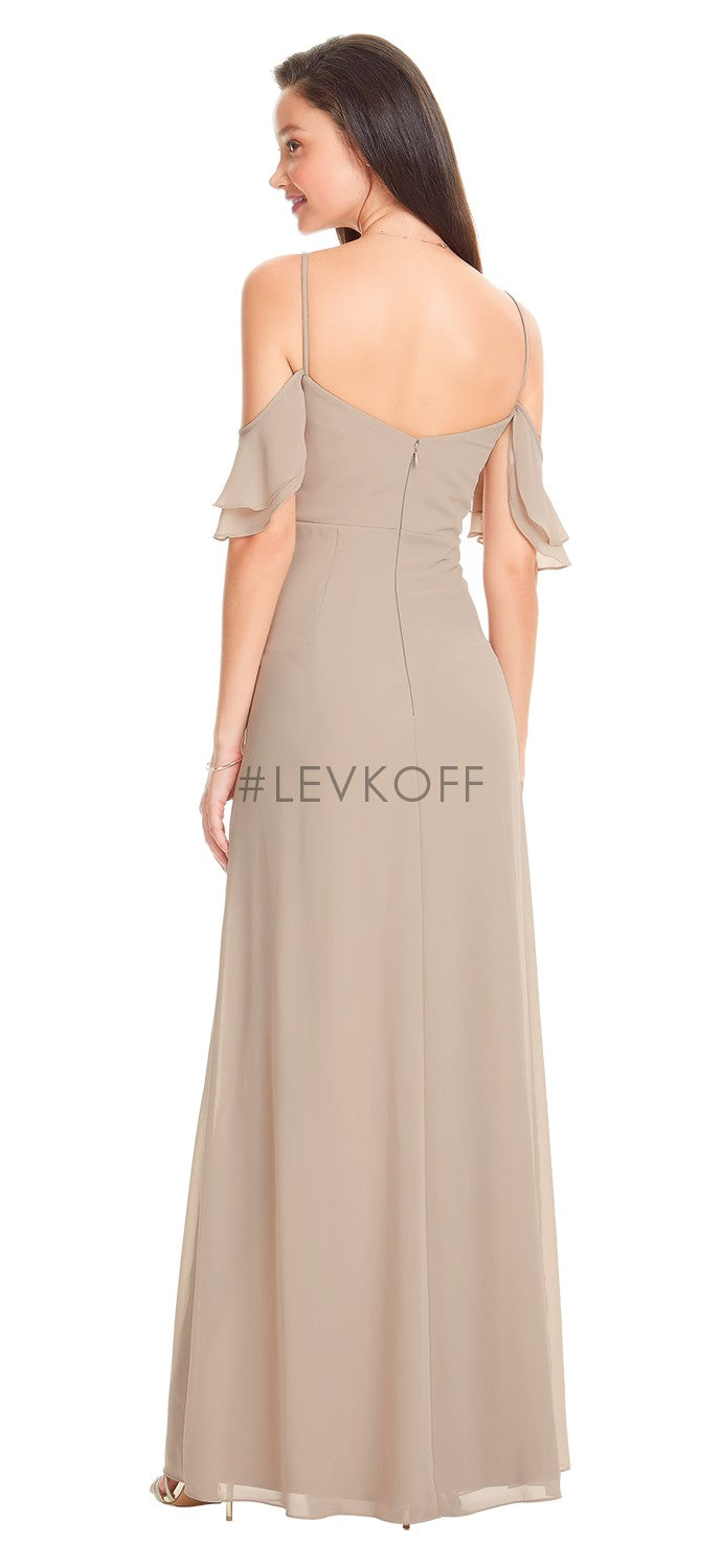 #LEVKOFF Bridesmaid Dress Style 7057 back