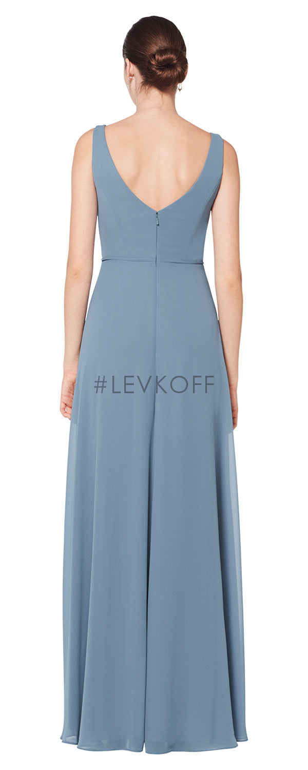 #LEVKOFF Bridesmaid Dress Style 7073 back