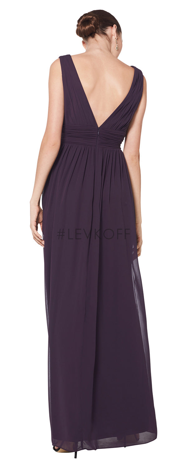#LEVKOFF Bridesmaid Dress Style 7082 back
