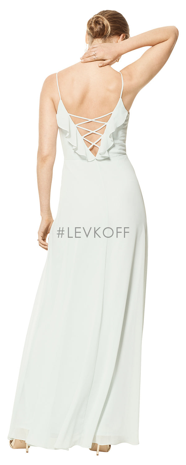 #LEVKOFF Bridesmaid Dress Style 7102 back