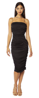 #LEVKOFF Bridesmaid Dress Style 7120 front Black
