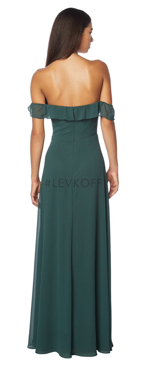 #LEVKOFF Bridesmaid Dress Style 7123 back