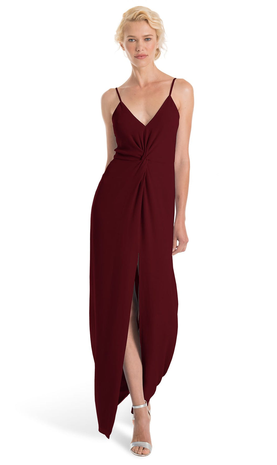 Joanna August Bridesmaid Long Dress Estelle-Merlot