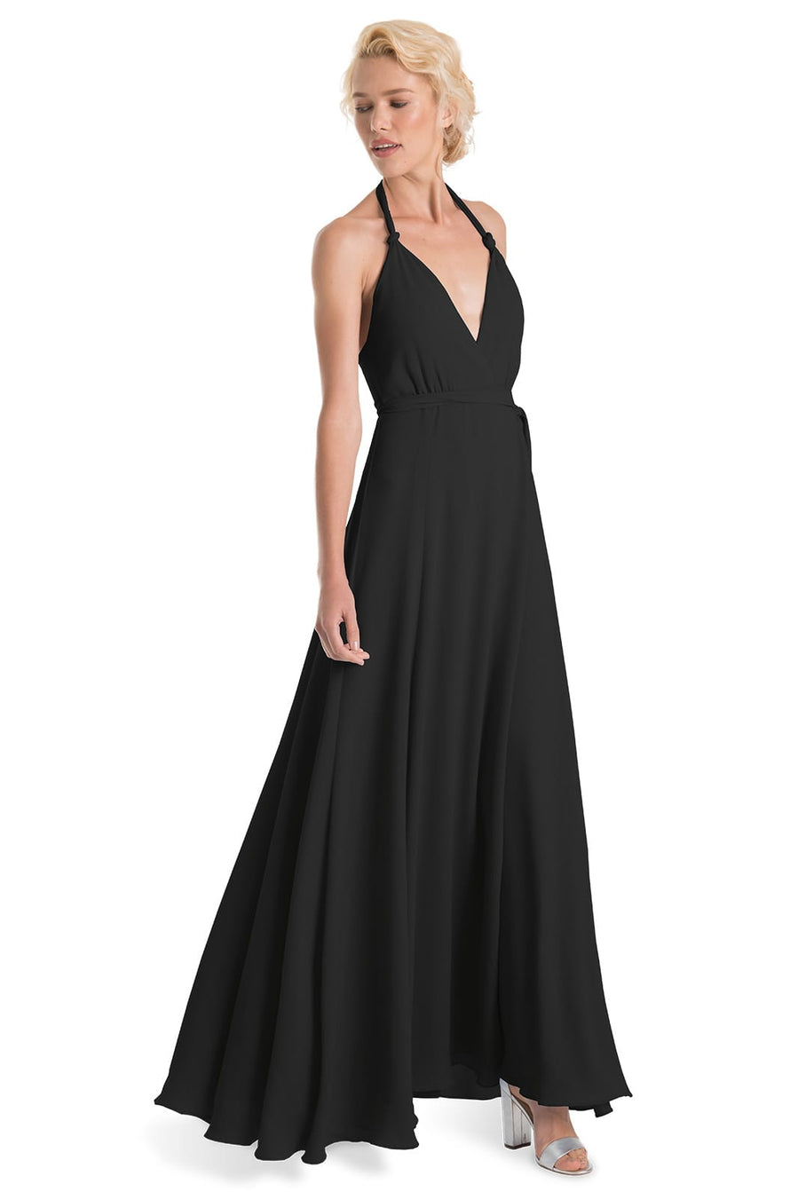 Joanna August Bridesmaid Long Dress Francesca-Onyx