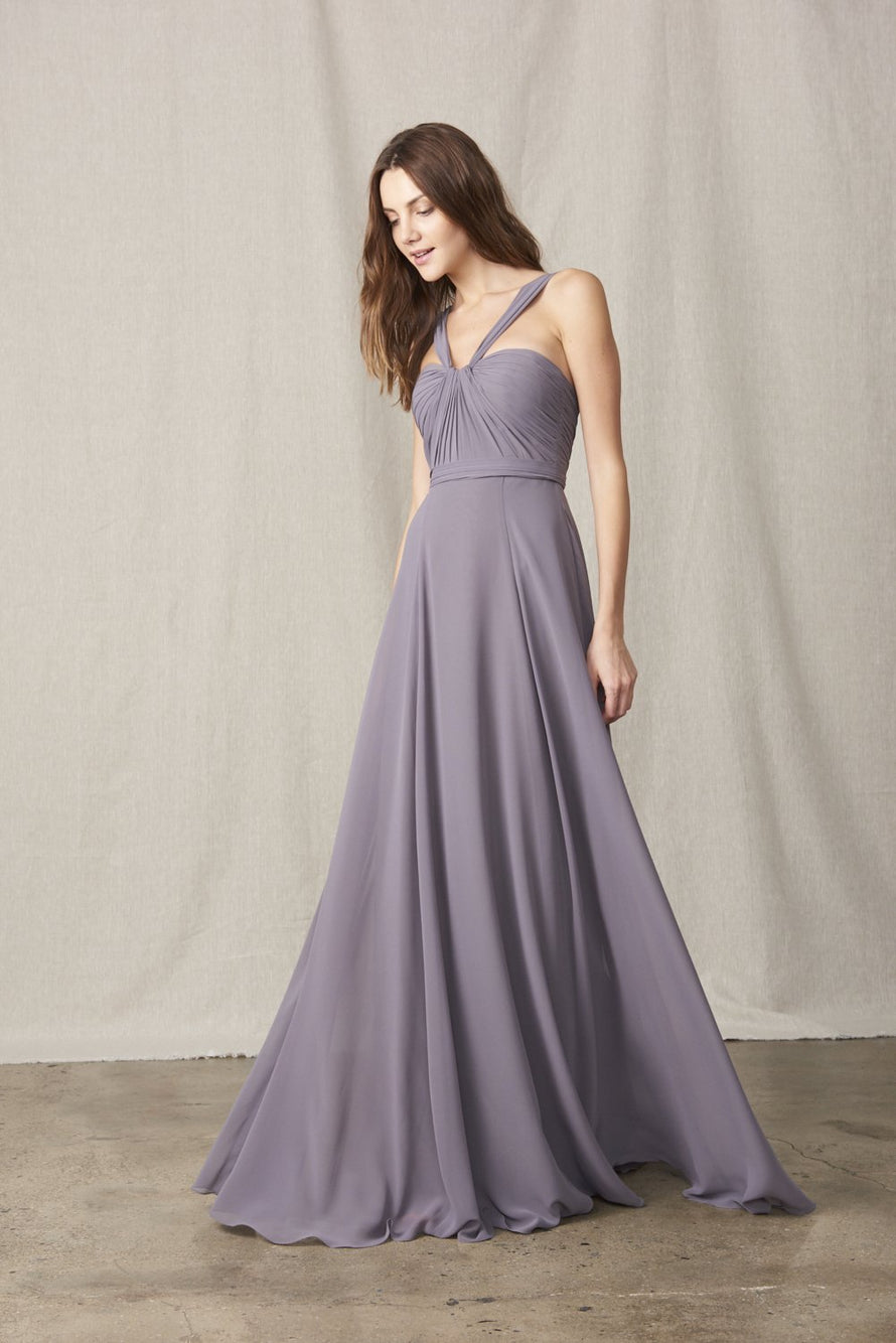 Amsale Long Bridesmaid Dress Cerisa