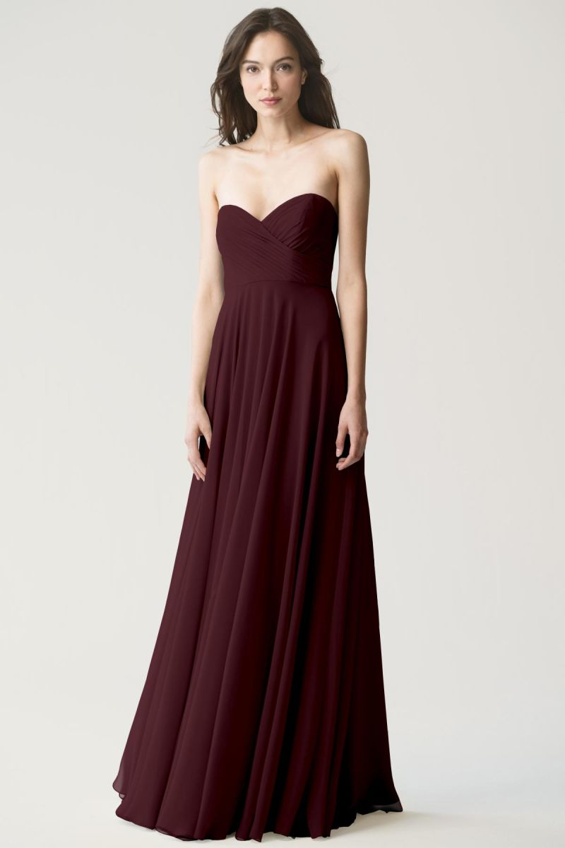 Mahogany-Jenny Yoo Bridesmaid Dress Adeline