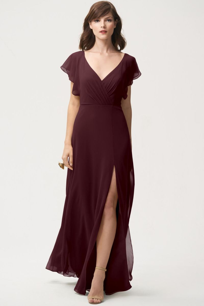 Mahogany-Jenny Yoo Bridesmaid Dress Alanna