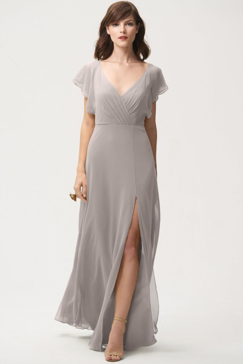 Opal Grey-Jenny Yoo Bridesmaid Dress Alanna
