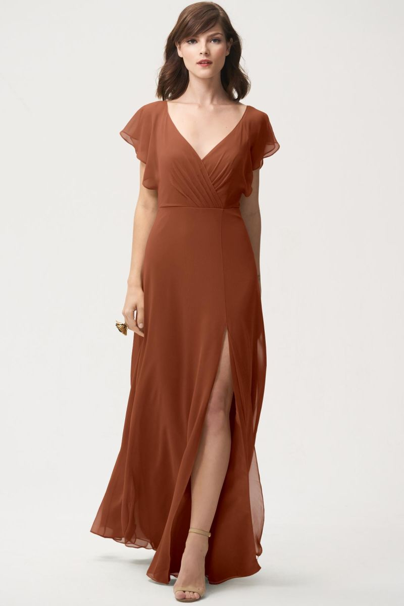 Terracotta-Jenny Yoo Bridesmaid Dress Alanna