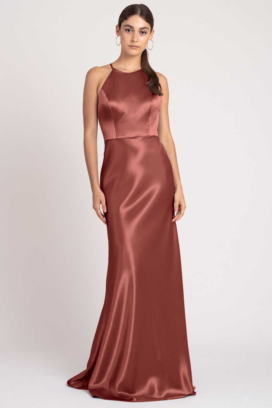 Jenny Yoo Long Bridesmaid Dress Alessia english_rose