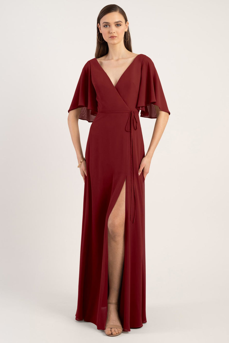 Jenny Yoo Bridesmaid Dress Ari_merlot