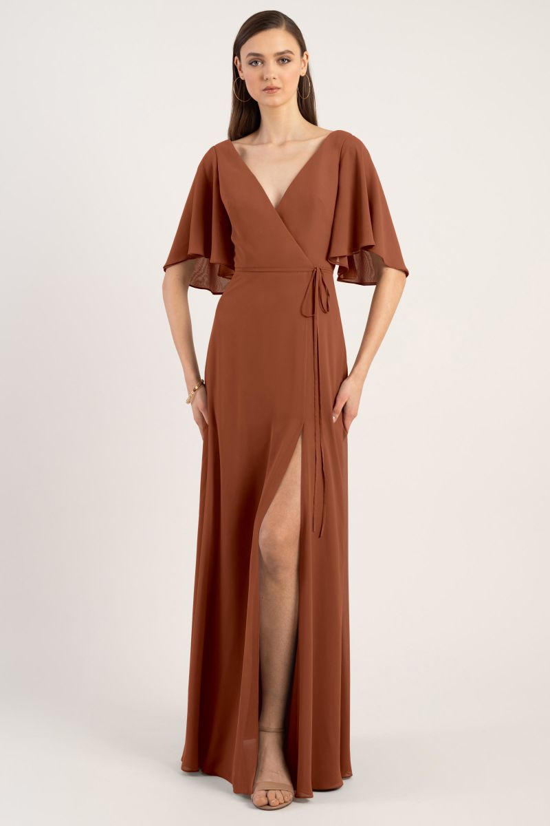 Terracotta-Jenny Yoo Bridesmaid Dress Ari