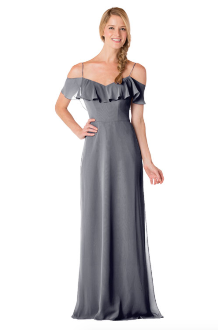 Bari Jay Bridesmaid Dress - 1730-AutumnGrey
