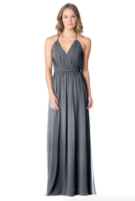 Autumngrey-Bari Jay Bridesmaid Dress - 1600