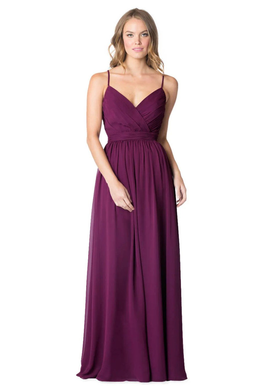 Bari Jay Bridesmaid Dress - 1606 front Raspberry