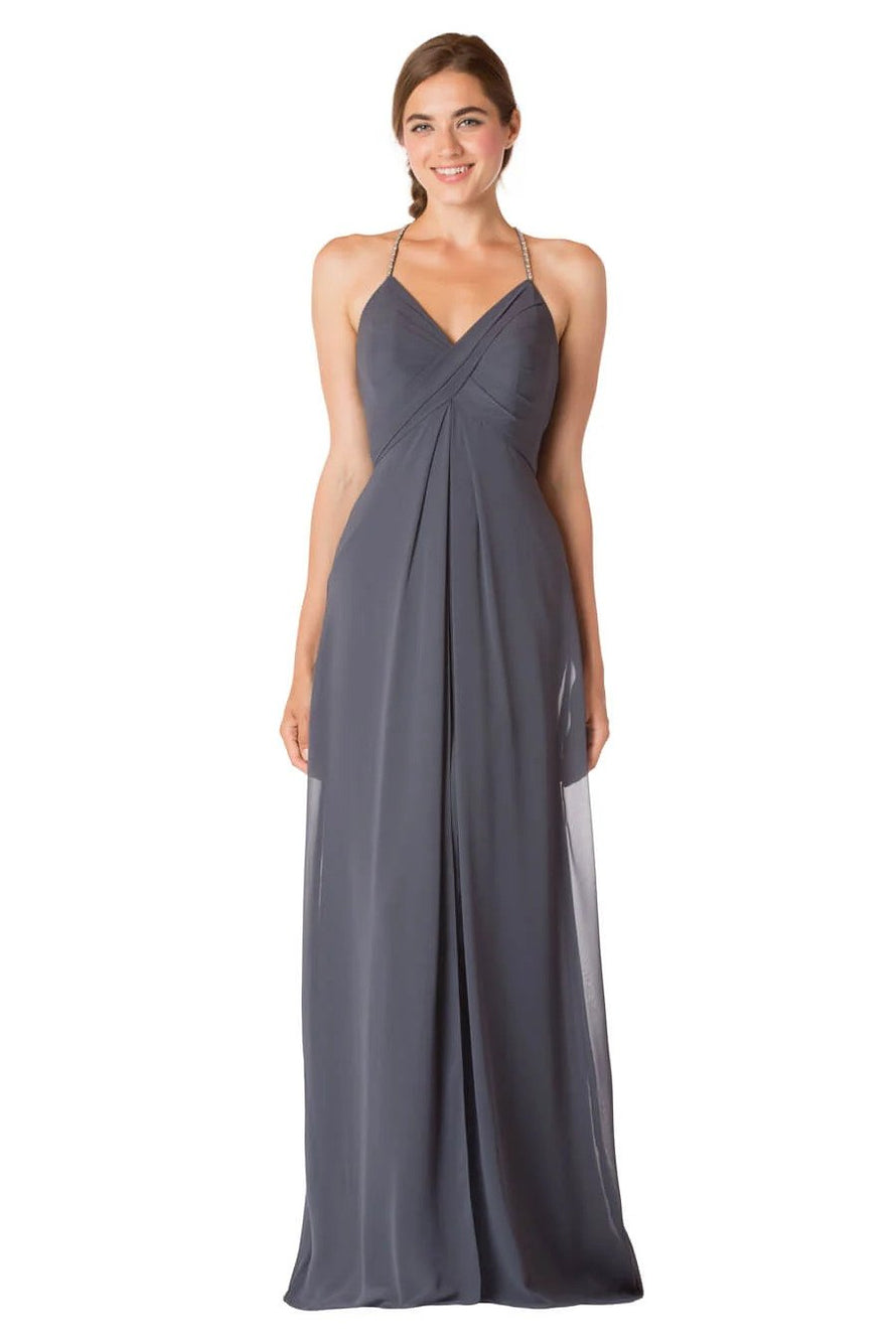 Bari Jay Long Bridesmaid Dress - 1723 IC front