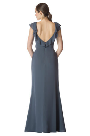 Bari Jay Long Bridesmaid Dress - 1753 back