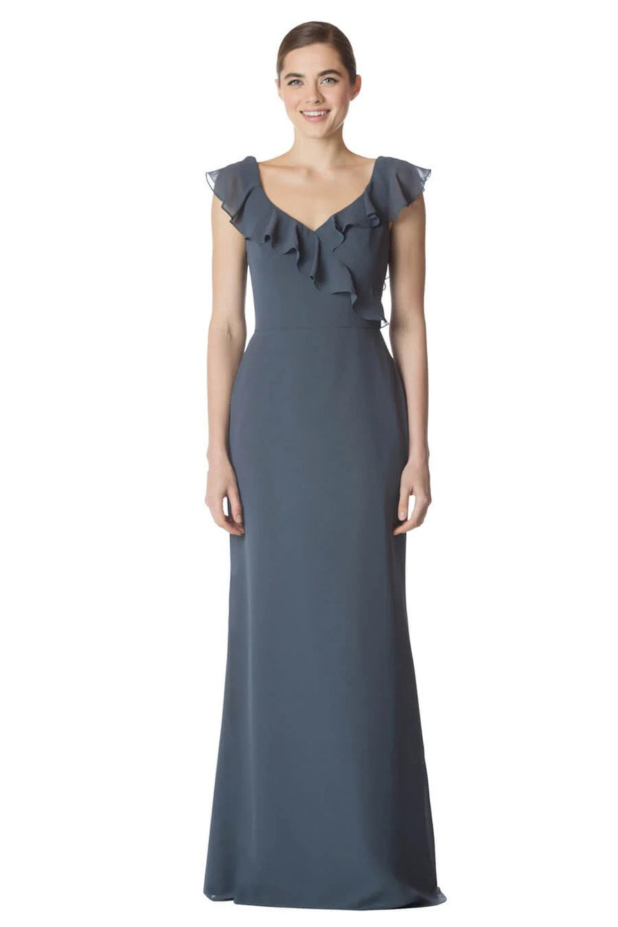 Bari Jay Long Bridesmaid Dress - 1753 front