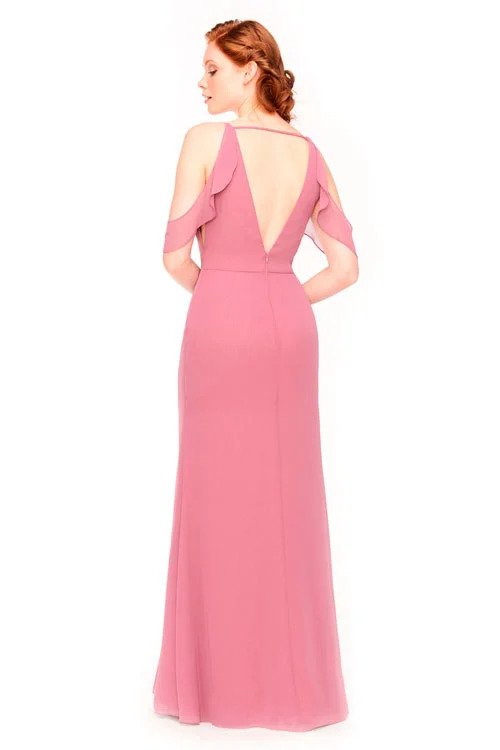 Bari Jay Bridesmaid Dress 1972 - back