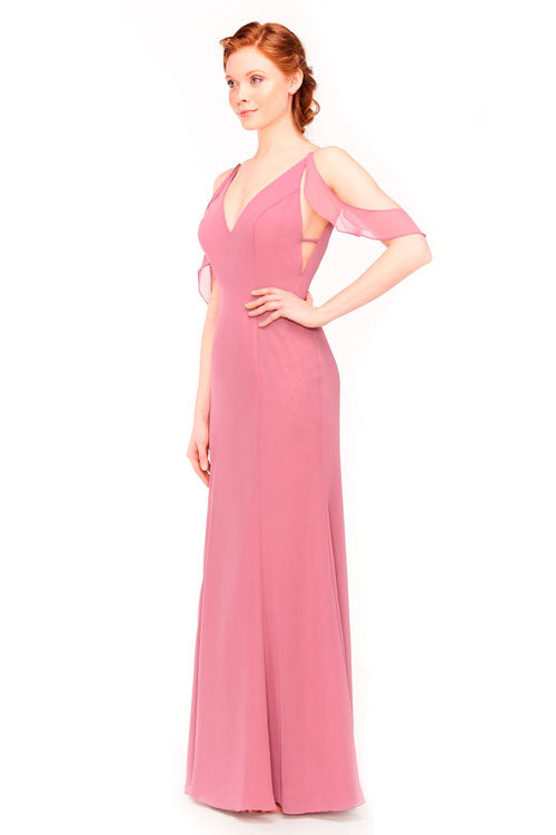 Bari Jay Bridesmaid Dress 1972 - side