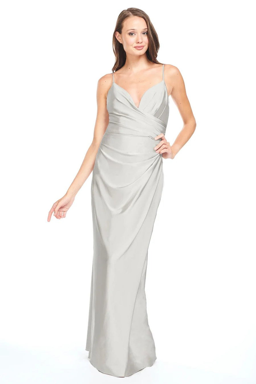 Bari Jay Bridesmaid Dress - 2005 front Silver