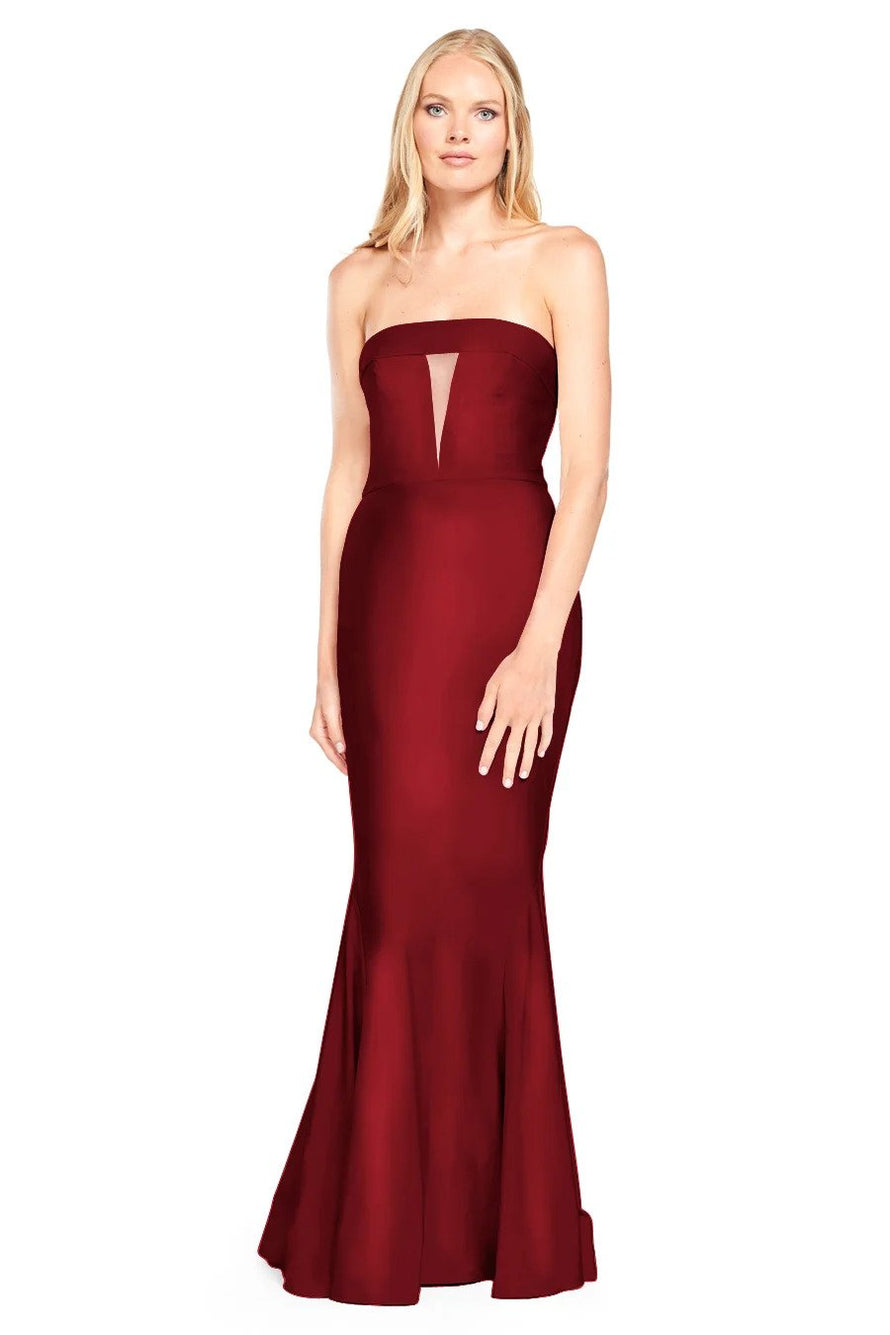 Bari Jay Bridesmaid Dress - 2008 Front Wine