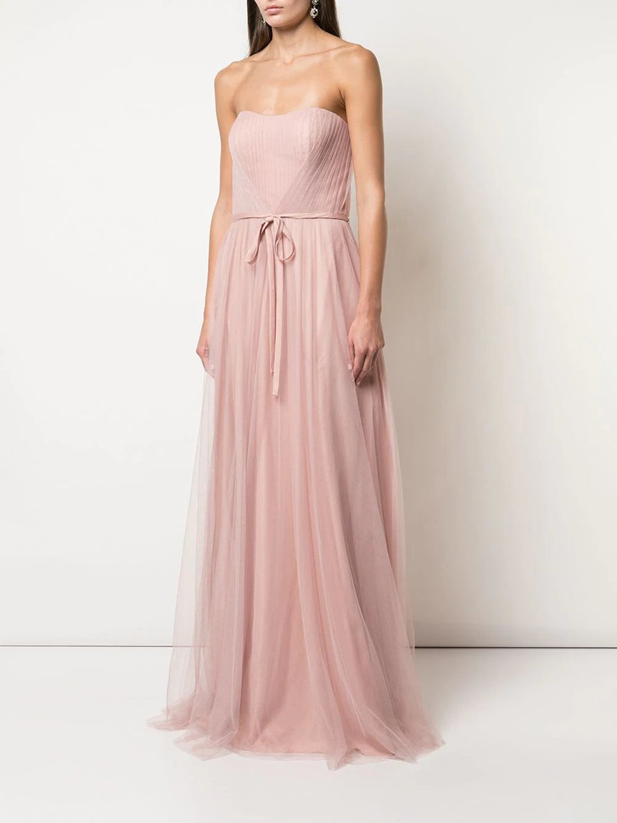 Marchesa Notte Strapless Draped Bridesmaid Dress BM0902
