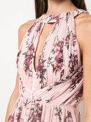 Marchesa Notte Halter Printed Lurex Chiffon Bridesmaid Dress BM0904