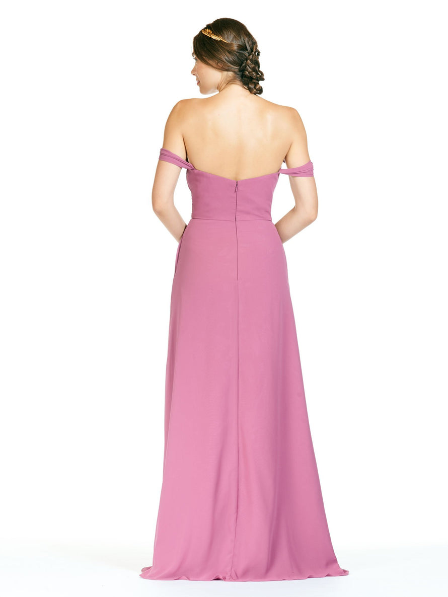 Bari Jay Long Bridesmaid Dress - 1803 back