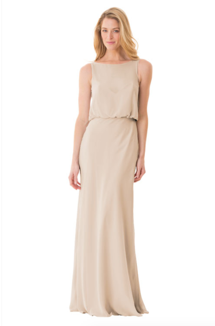 Bari Jay Bridesmaid Dress - 1661-Beige