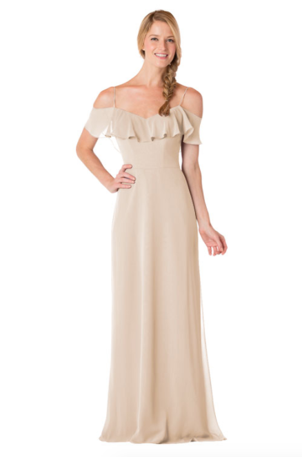 Bari Jay Bridesmaid Dress - 1730-Beige