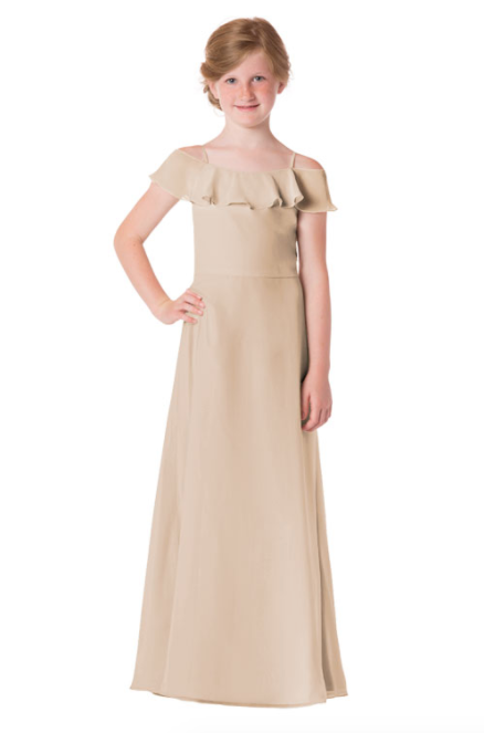 Bari Jay Junior Bridesmaid Dress - 1730(JR)-Beige
