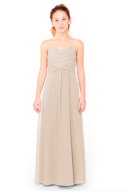 Bari Jay Junior Bridesmaid Dress 1962 - Beige