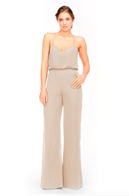 Bari Jay Jumpsuit Bridesmaid Dress 1964 - Beige