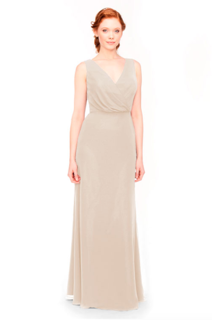 Bari Jay Bridesmaid Dress 1970 -Beige