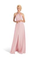 Pink Joanna August Long Bridesmaid Dress Bella
